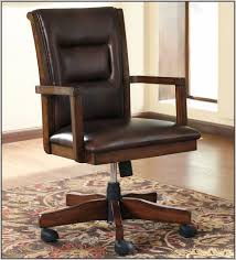 Wood Desk Chair Without Wheels Wooden Desk Chair Without Wheels Hostgarcia