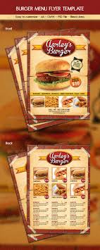 menu flyer template burger menu flyer template by arifpoernomo graphicriver
