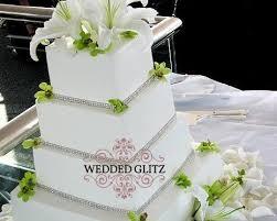 rhinestone cake rhinestone cake banding 2 row weddedglitz