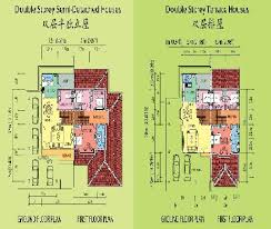 Double Story House Floor Plans Double Storey House Plan Malaysia House Interior