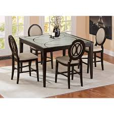 Dining Room Sets 4 Chairs by Cosmo Counter Height Table And 4 Chairs Merlot American