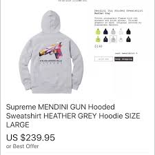 25 off supreme other supreme mendini hoodie l from homer u0027s