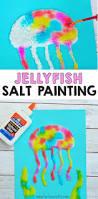 jellyfish salt painting activity for kids salt painting