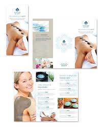 day spa u0026 beauty salon tri fold brochure template