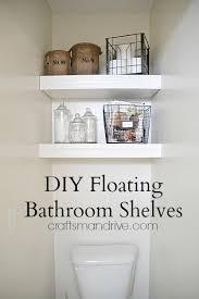Floating Cabinets Bathroom Diy Bathroom Floating Shelves