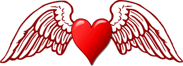 hearts wings coloring pages az coloring pages clip art
