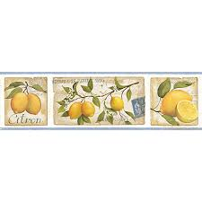 kitchen wallpaper borders ideas buy galerie aquarius lemons kitchen wallpaper border at