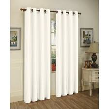 White Silk Curtains Silk White Curtains Drapes You Ll Wayfair