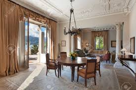 classical interiors luxury living room in a period mansion stock