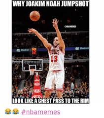 Chicago Bulls Memes - why joakim noah jumpshot look like a chest pass to the rim