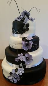 purple and black wedding cakes dress images