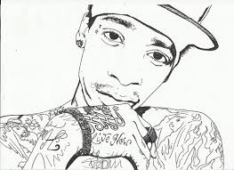 wiz khalifa coloring pages sketch coloring page
