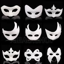 unpainted masks 10pcs lot white unpainted plain blank version paper pulp mask