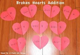 mom to 2 posh lil divas valentine u0027s day fun heart math for