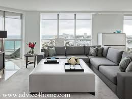 living room l tables l shape gray modern sofa design and white wall in living room with