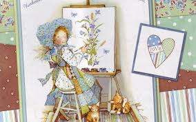 Hand Painted Wallpaper by Holly Hobbie Cute Little Hand Painted Wallpaper 9 1280x800