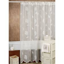 Brown And White Shower Curtains White And Navy Shower Curtain Grand Haven Embroidered Shower
