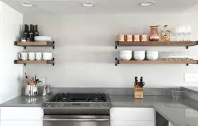 Open Kitchen Shelf Ideas Kitchen Open Shelving Modern Eiforces