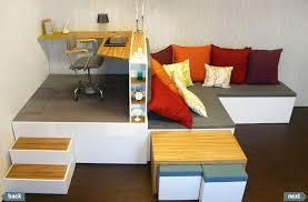 fabriquer un sous de bureau estrade pour un bureau avec lit escamotable
