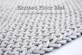 floor mat free knitting pattern craft passion