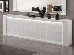 Buffet bahut VERONICA 4 portes blanc laque sans led chez Mobistoxx
