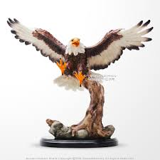 flying bald eagle gift desk office ornament decoration polyresin