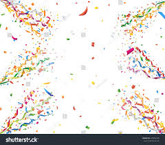 party confetti exploding party confetti streamers stock vector 478292140