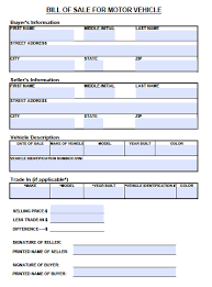 Sample Bill Of Sale Car by Free Tennessee Motor Vehicle Bill Of Sale Form Pdf Word Doc