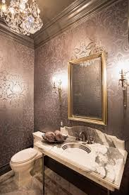 Bathroom Trays Vanity by Bathroom Warm Bathroom With Floral Pattern Wallpaper Also Marble