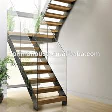 Glass Staircase Design Customized Staircase Design Glass Railing Wooden Steps Marble