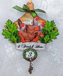 artfully musing 12 days of christmas ornaments and a new collage