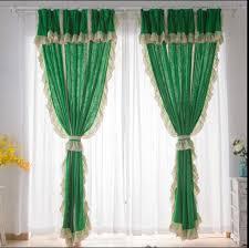 Lace Trim Curtains Priscilla Emerald Green Farmhouse Curtains Lace Trim