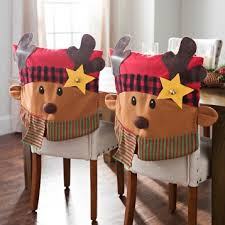 christmas chair covers plaid reindeer christmas chair covers set of 2 kirklands