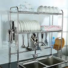 over the sink dish drying rack over the sink dish drying 2 tier rack heavy duty stainless steel