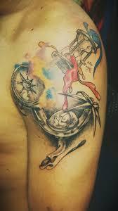 tatuaje tattoo candil granada reloj de arena brujul u2026 flickr