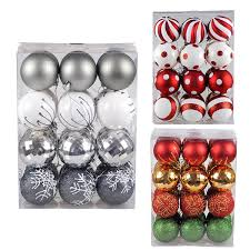 shatterproof christmas tree baubles decorations classic xmas trees