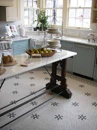 hexagon tile kitchen floor aesthetic oiseau penny tile