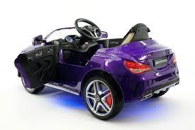 mercedes cla45 12v kids ride on car mp3 usb metallic purple