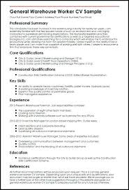 sample resume for warehouse position u2013 topshoppingnetwork com