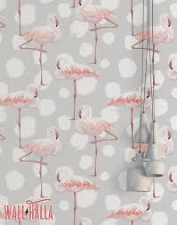 wallpaper with pink flamingos flamingo dots wallpaper removable wallpaper pink flamingos