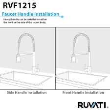 kitchen faucets installation ruvati rvf1228st pullout spray kitchen faucet u2013 stainless steel