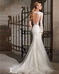 vestido de noiva sereia backless wedding dresses mermaid long