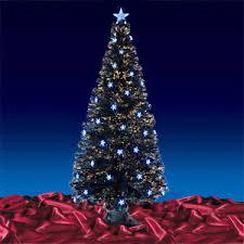 black fibre optic artificial indoor tree blue 3ft