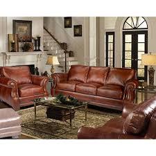 bristol top grain vintage leather craftsman living room set