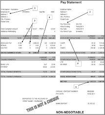 Payroll Statement Template by Wages And Wage Statements Working In The Food Service Industry