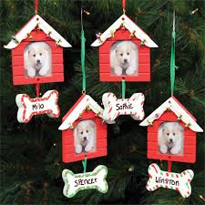 personalized dog house frame ornament
