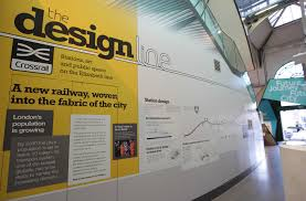 exhibition presentation of a new news and information about crossrail events crossrail