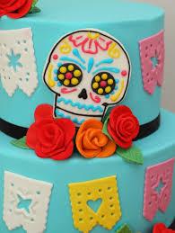 day of the dead wedding cake butter hearts sugar dia de los muertos wedding cake