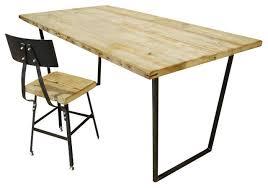 Modern Wood Desk Modern Wood Desk Rustic Reclaimed Home With Regard To 17