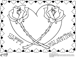 free happy valentine rose heart coloring pages adults free